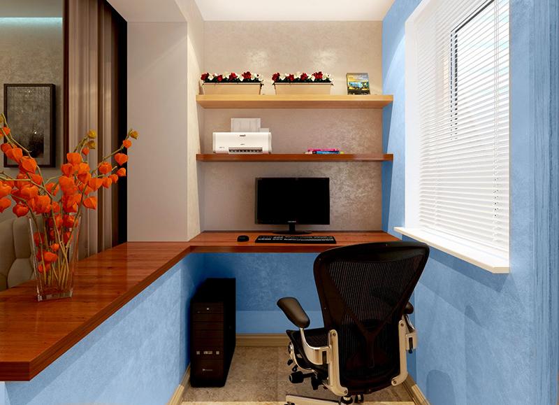 Из балкона получится отличный рабочий кабинет