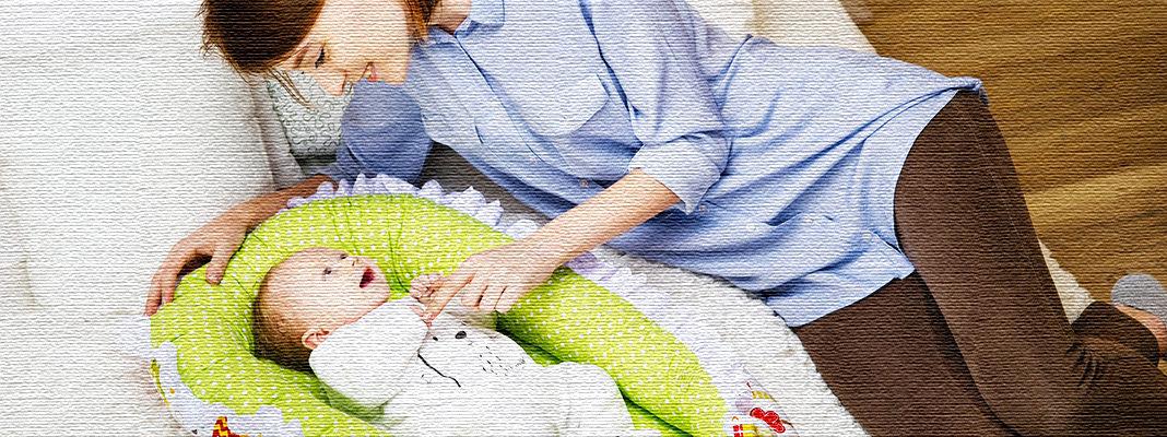 Кокон для новорождённого своими руками