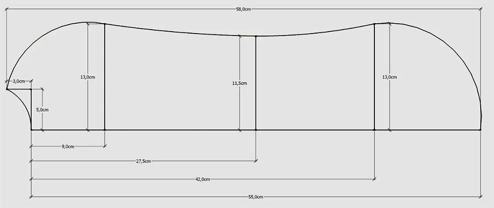 Выкройка пелёнки-кокона на замочке