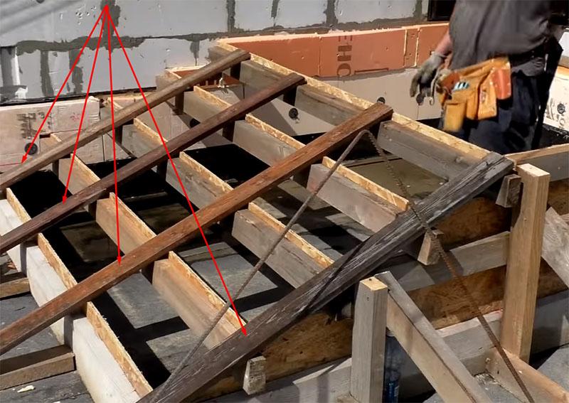 Поперечные рёбра жёсткости необходимы, иначе бетон выдавит подъёмы ступеней