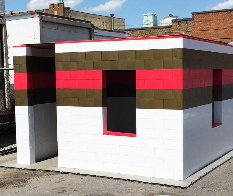 Лего-блоки Ever-Block для быстрого возведения зданий