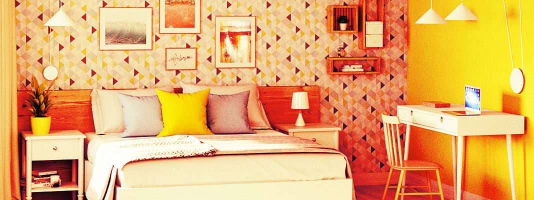 Оформление спальни в стиле Леруа Мерлен