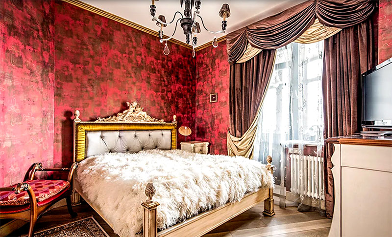 Знойные краски и итальянские страсти в интерьере квартиры Ольги Филипповой