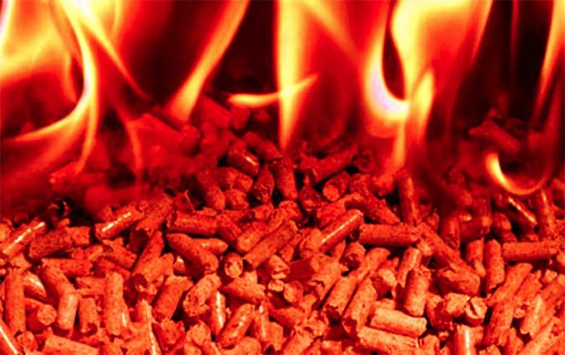 КПД от сгорания пеллет достигает 96%