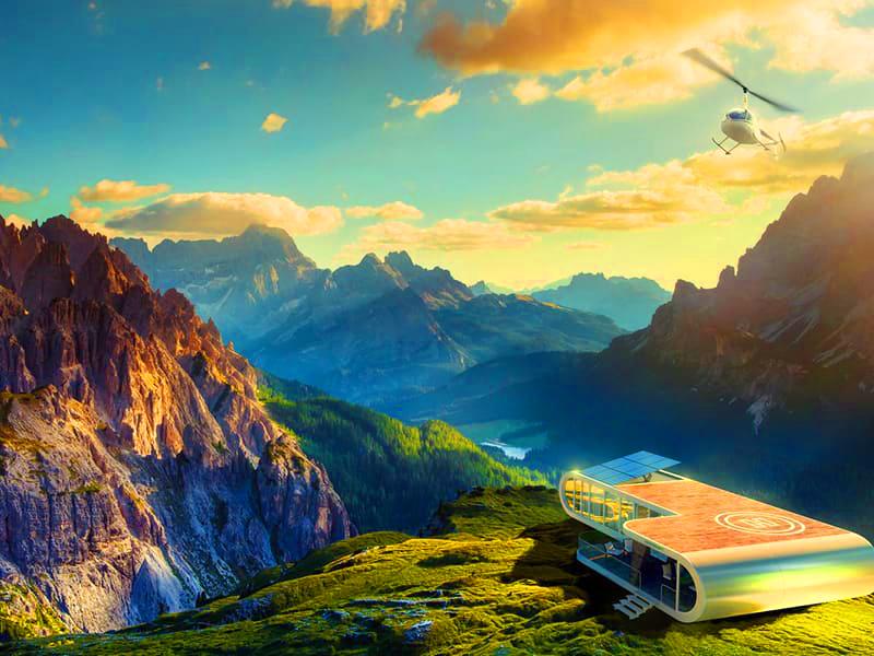 В горах можно организовать небольшой туристический комплекс