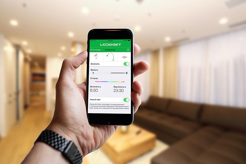 Управление системой автоматизации осуществляется через мобильную связь
