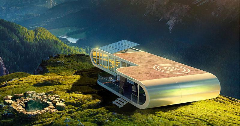 Персональная мобильная модульная экологичная вилла LODGET