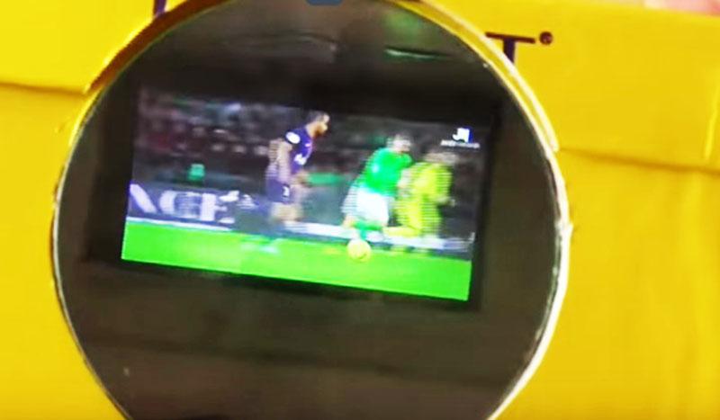 Проектор включён, можно наводить на экран