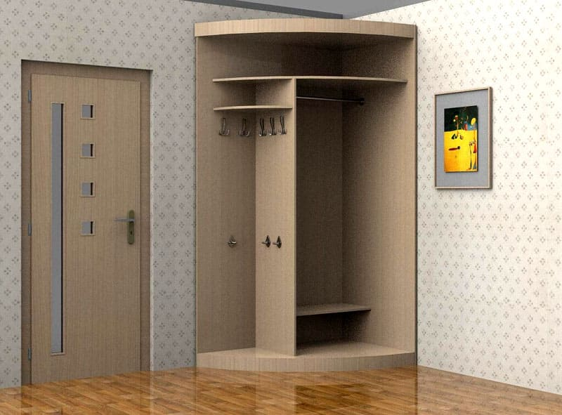 Радиусные шкафы-купе обладают большой вместимостью