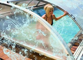 Раздвижные павильоны для открытых бассейнов