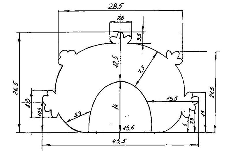 Универсальный шаблон кокошника