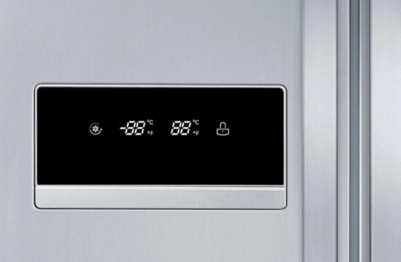 Температура на дисплее покажет температуру обеих камер