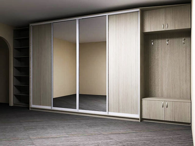 Шкаф с раздвижными зеркальными дверями подойдёт для любой квартиры