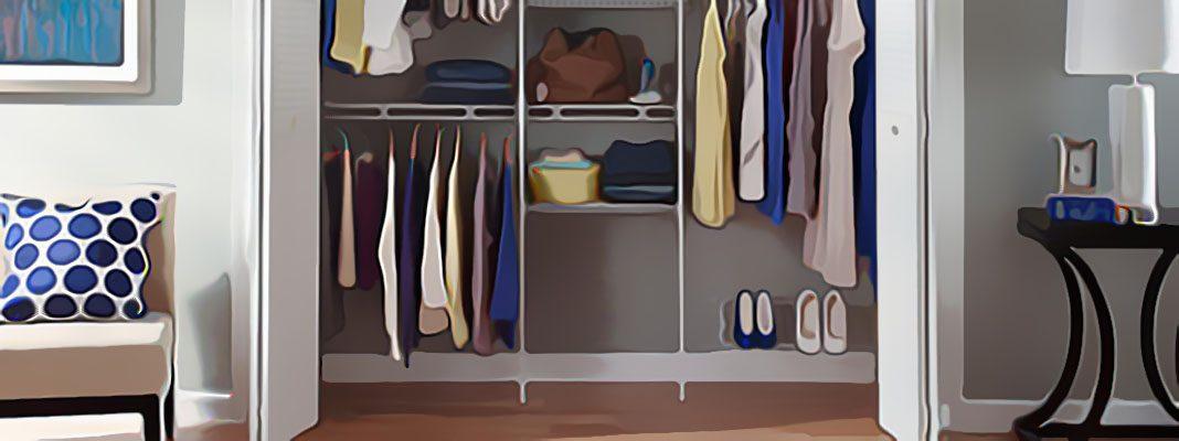 7 идей организации гардеробной в типовой квартире