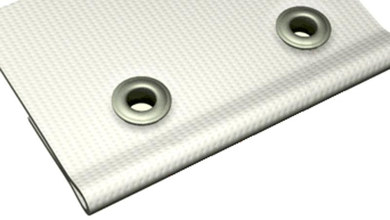 Люверсы — металлические кольца помогают избежать повреждений сетки во время монтажа и эксплуатации