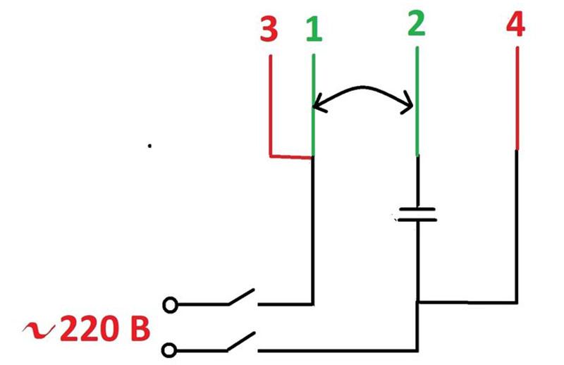 Схема подключения двигателя старой машины