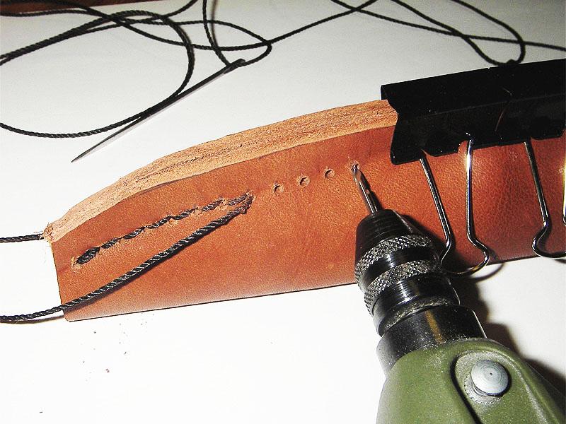 Изготовление ножен из толстой кожи