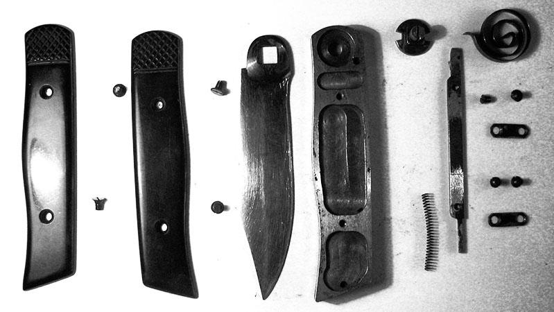 Детали, из которых состоит складной нож