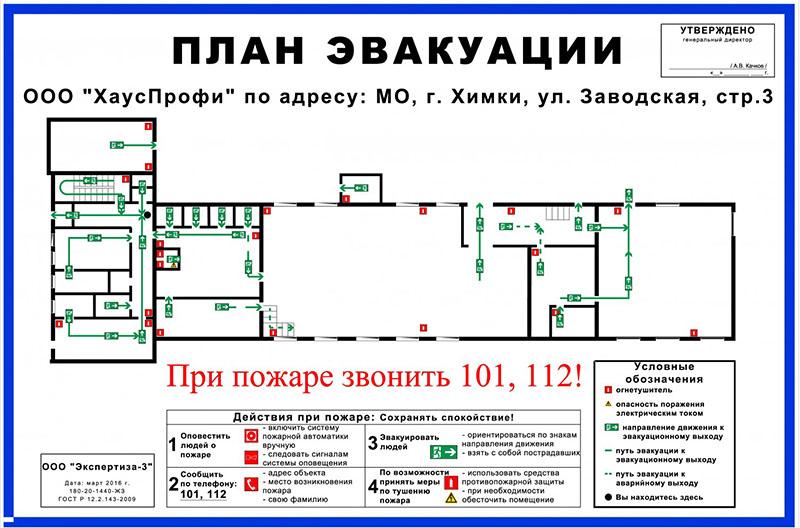 План эвакуации – обязательный атрибут для любого здания