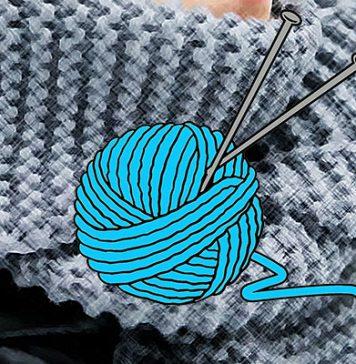 Мужской шарф спицами схемы с описаниями