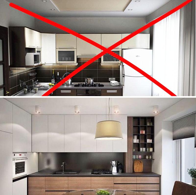 Шкафы до потолка повысят функциональность кухни
