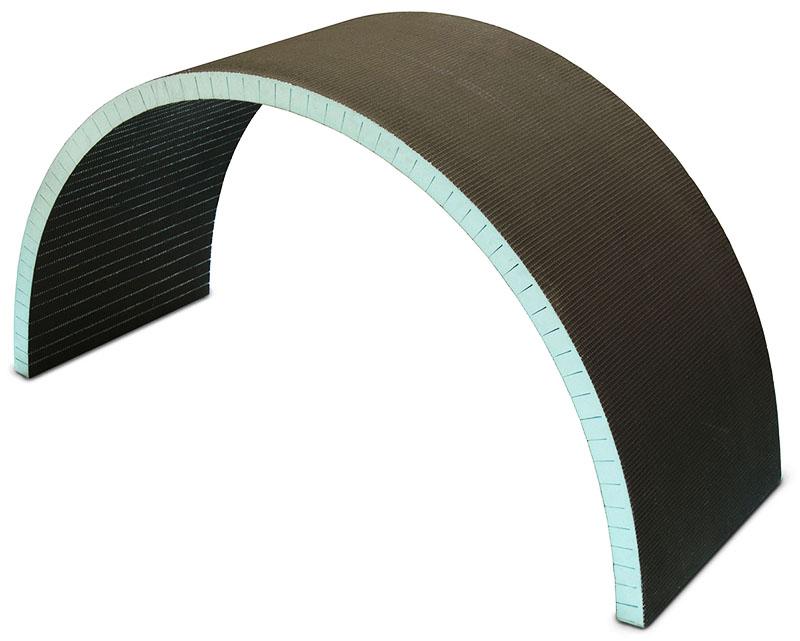 Эти панели можно изогнуть при монтаже сложных форм стен
