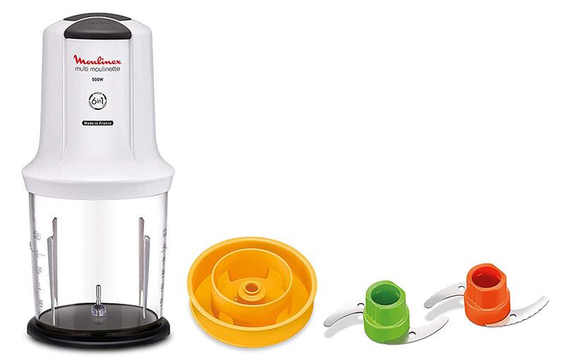 Кухонный измельчитель от MOULINEX не занимает много места, многие хозяйки отмечают, что это одно из главных преимуществ прибора