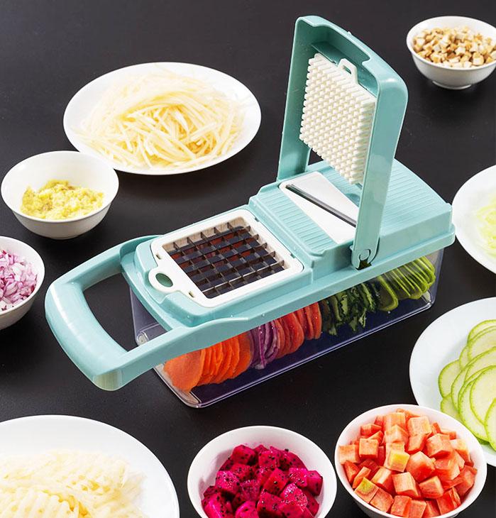 Ножи достаточно легко промываются, а сам процесс нарезки блюд занимает считанные мгновения