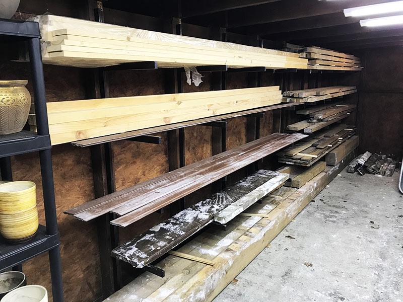 Вариант компактного хранения для разных пород древесины