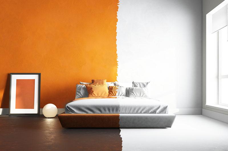 Интересная спальня для супругов с разными вкусами