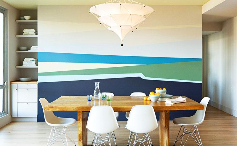 Запоминающийся и неброский вариант окраски стен