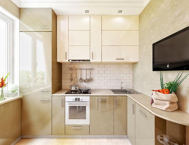 Мебель кремового цвета придаёт дороговизну интерьеру