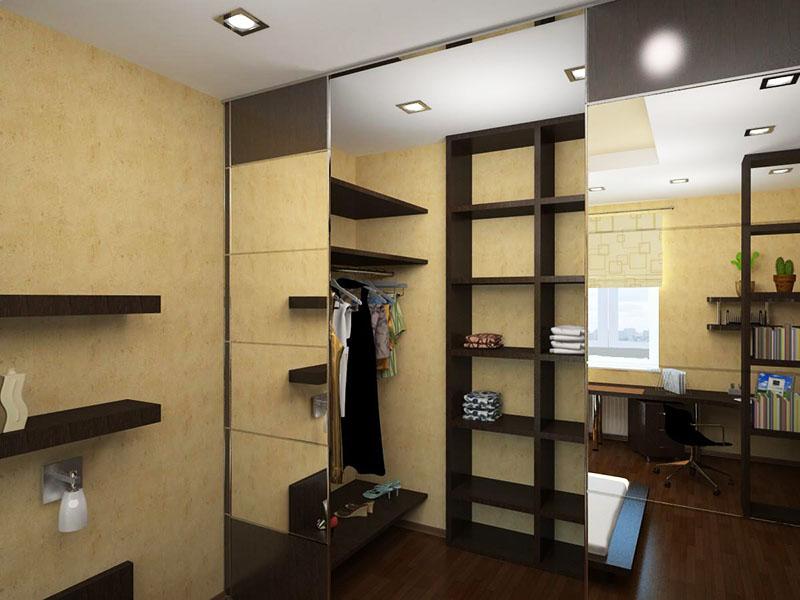 В современных квартирах вместо кладовой комнаты обустраивают гардеробную