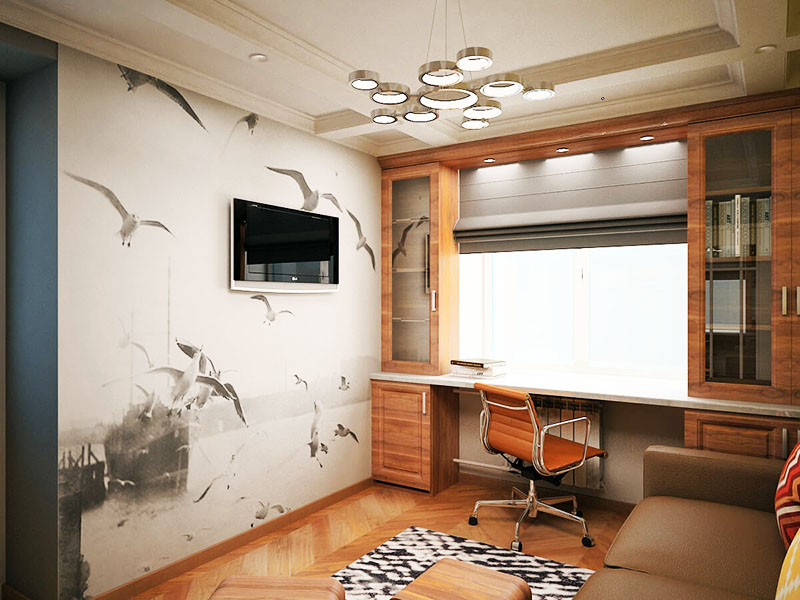 Красивые фотообои на одну стену могут изменить вид комнаты в лучшую сторону