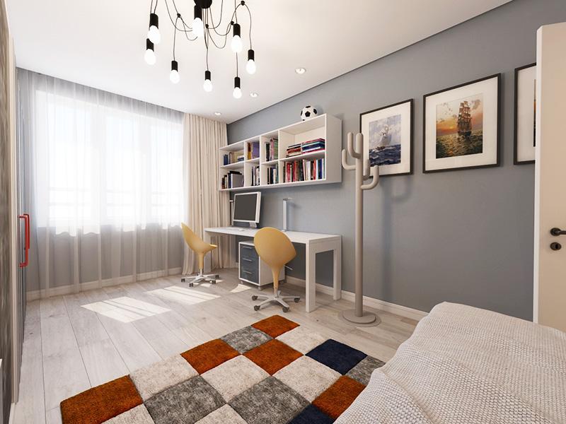 Если комната маленькая, стену с окном лучше не загораживать мебелью