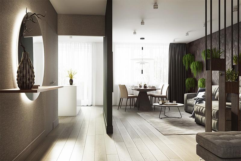 С помощью сноса стен и установки пластиковых окон можно превратить обычную комнату в стильное место