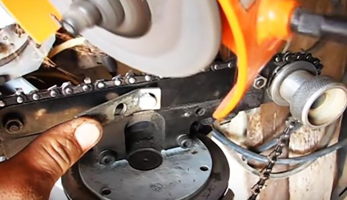 Электрический станок для заточки пильных цепей