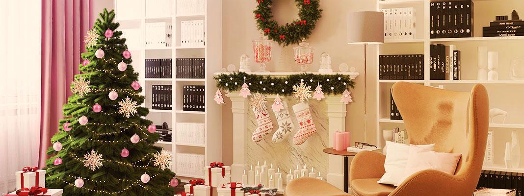 Новогоднее настроение гостиной от Леруа Мерлен