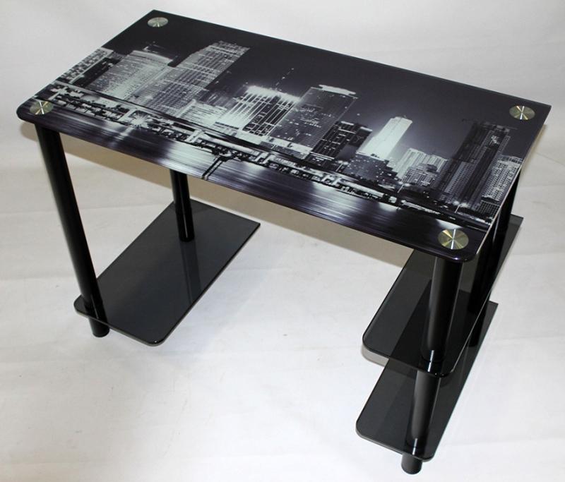 Стекло для рабочего стола с тёмным принтом