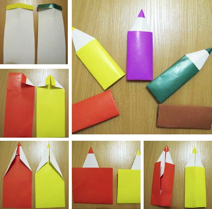Закладки очень похожи на настоящие карандаши