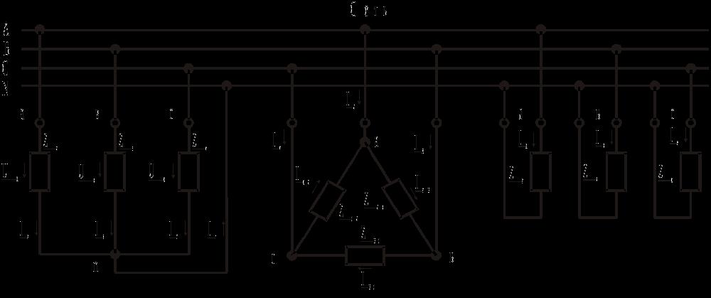 Наиболее распространённые типы включения в трёхфазную сеть