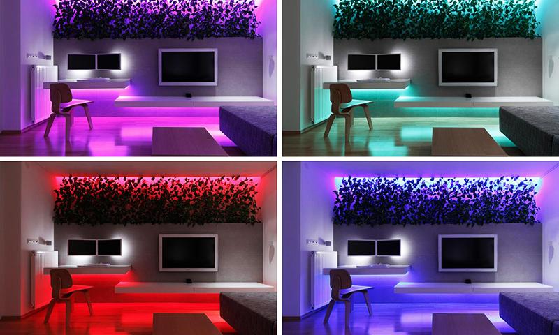 RGB-ленты позволяют создать особую атмосферу