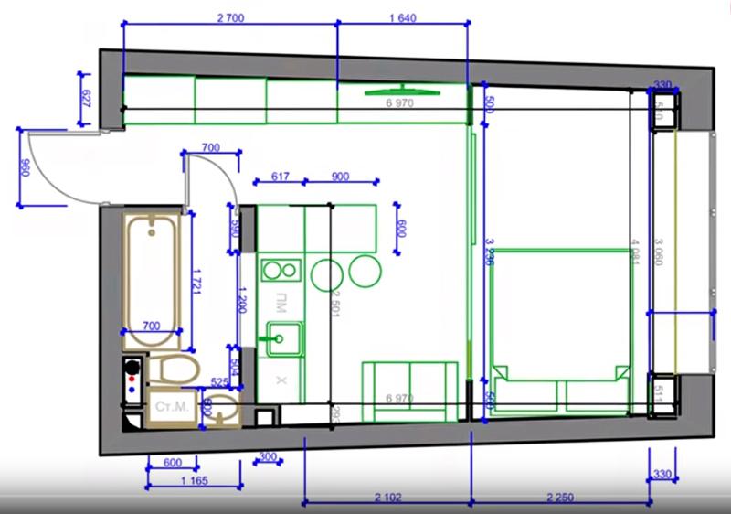 Как выжать максимум из квартиры в 29 м²