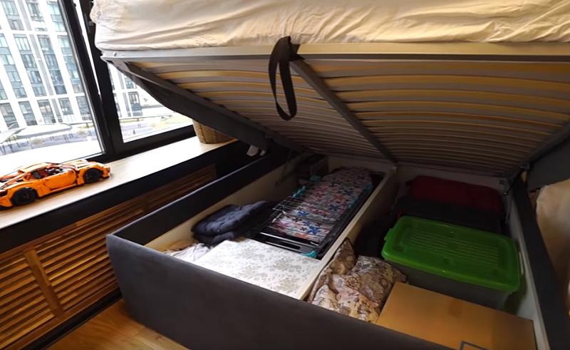Если вы хотите дополнительное место для хранения, выбирайте диван с высокими бортиками