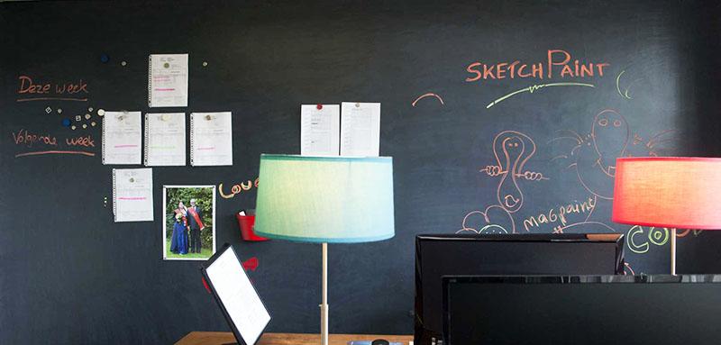 Такая стена поможет ребёнку развиваться творчески