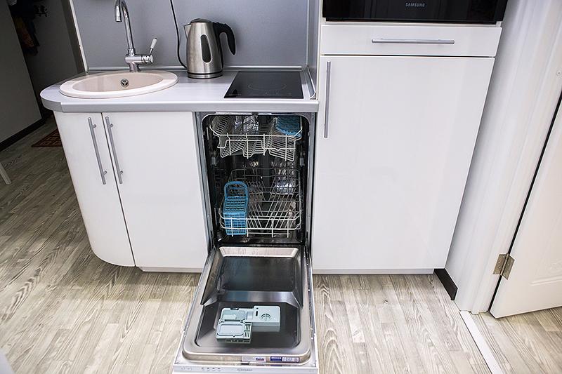 Узкие агрегаты более удобны для небольших кухонь