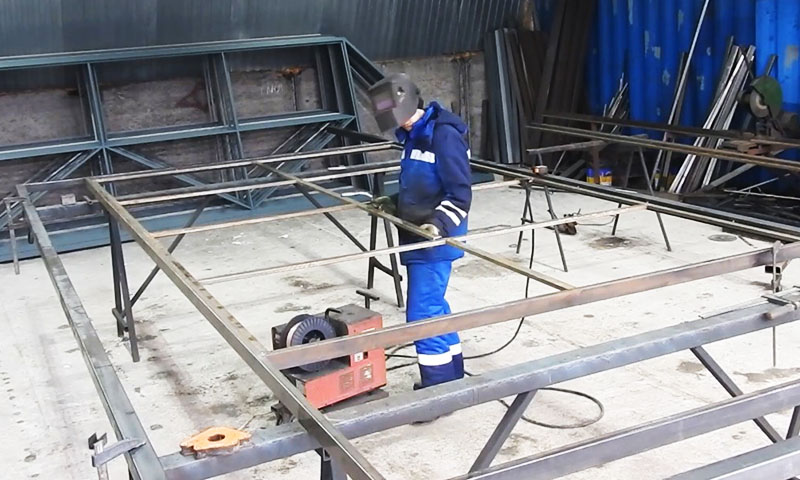 Изготовление рамы ворот