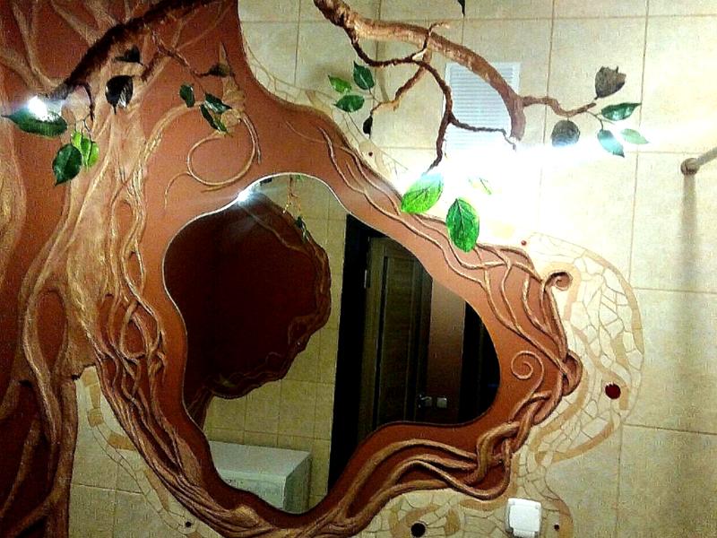 Песчаное панно в ванной комнате