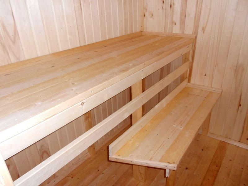 Как изготовить полок и полки в бане своими руками - подробная инструкция
