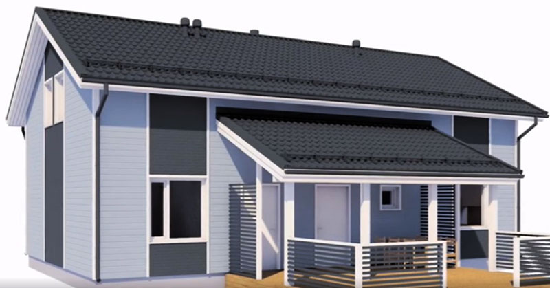 Каркасный дом в финском стиле
